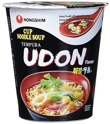 Nong Shim Instant Suppe Udon – Koreanische Ramen Cup Suppe - schnelle Zubereitung – 12er Vorteilspack à 62g
