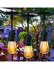 Slingers Lichten Buiten, Bomcosy S14 Lichtslinger Buiten Lichtslingers LED Perefcto-lampen voor Party Wedding Garden Patio Cafe