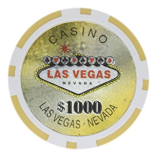 1000 las vegas poker chips - 1