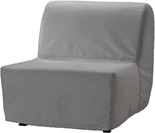 The Dense Cotton Lycksele Chair Bed Sofa Replacement is Custom Made for Ikea Lycksele Single Sleeper Or Futon. A Lycksele Slipcover Replacement (Light Gray)