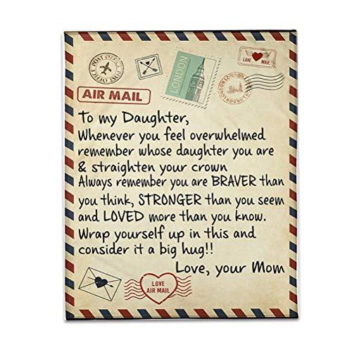 Manta con mensaje personalizado, diseño de hija