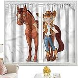 Tende termiche a cavallo, cowboy tiene redini occidentali W52 x L84 pollici cutainsforlivingroom