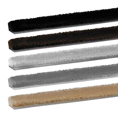 Universal selbstklebend Bürstendichtung Meterware in 5 Farben auswählbar (Weiß)