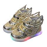 Turnschläppchen Mädchen LED Blinkend Schuhe Kinderschuhe Kinder Sportschuhe Jungen Baby Outdoor Turnschuhe Flügel Gymnastikschuhe Rutschfest Sport Schuhe Unisex