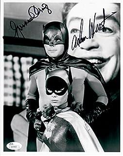 Adam West Yvonne Craig Dual Autographed Signed 8X10 Photo Batman Bat Girl JSA