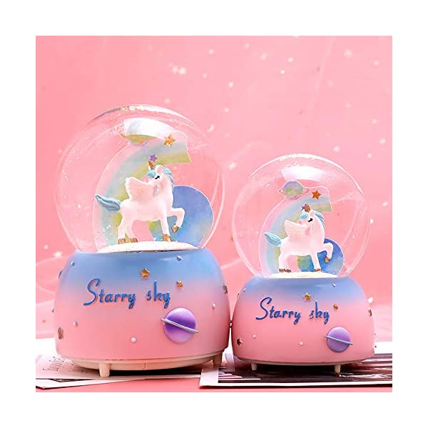 Unicorn Snow Globe for Kids, VECU Snow Globe with Music Perfect Unicorn Music Box for Girls, Granddaughters Babies… 10