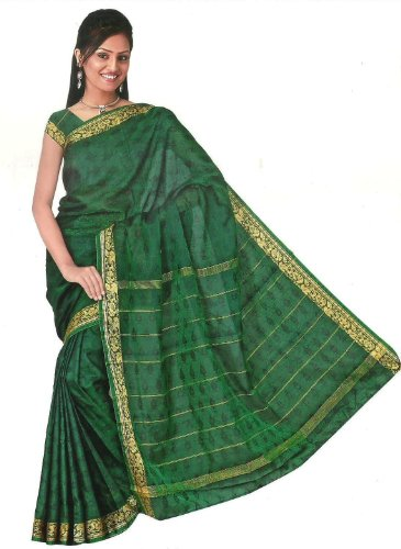 Trendofindia Bollywood Sari Kleid Regenbogen Grün