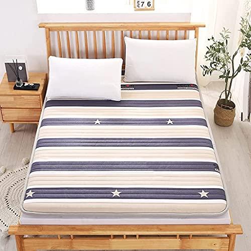 Colchones Colchón de Suelo Plegable, Completo, colchón de futón Acolchado japonés, Cama Nido Japonesa, colchoneta Suave para Dormir, tapete de Tatami, colchón Enrollable para dormitorios de estu