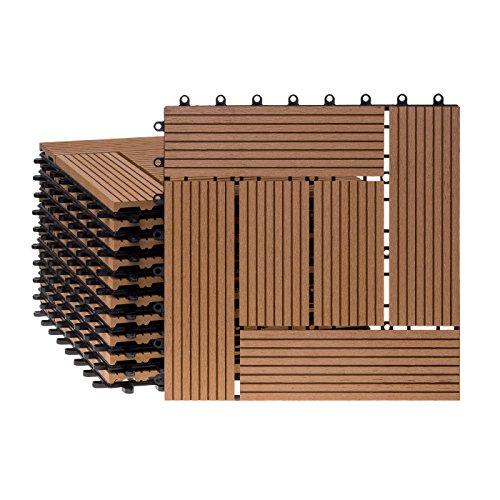 WPC Holz Kunststoff Fliesen Terr...