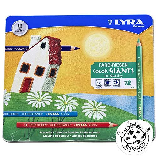 LYRA 3941181 Farb-Riesen Metalletui mit 18 Farbstiften, farbig sortiert