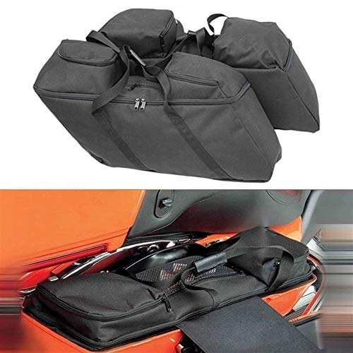 Xuulan Xianglaa-bags for motorcycle, Luggage Motorcycle Saddlebag Waterproof Travel Bag For Touring Electra Street Glide Road King, Well-designed goods (Color Name : Black)