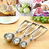 Right Traders Stainless Steel Ice Cream Scoop Cookie Dough Scooper with Trigger Release