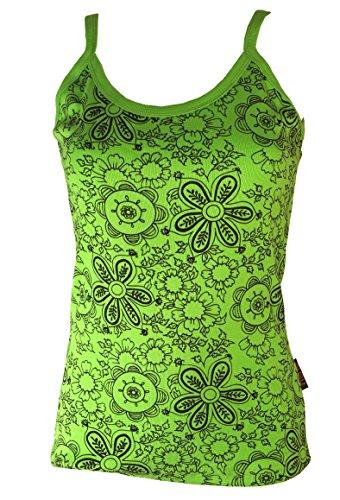 Guru-Shop Yoga Top Blümchen, Damen, Lemon, Baumwolle, Size:M/L (40), Tops, T-Shirts, Shirts Alternative Bekleidung