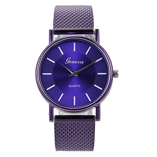 Lazzgirl Quarzuhr Damen High-End Blue Glass Life Waterproof Distinguished(E,Silikonüberzug)