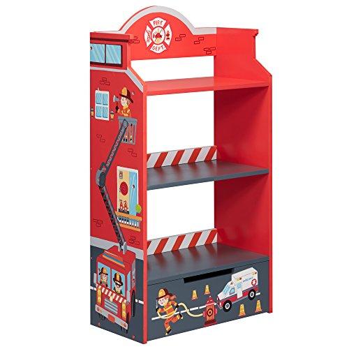 Fantasy Fields Kinderbücherregal Lil Fire Fighters Kind Feuerwehr Holz TD-12506A