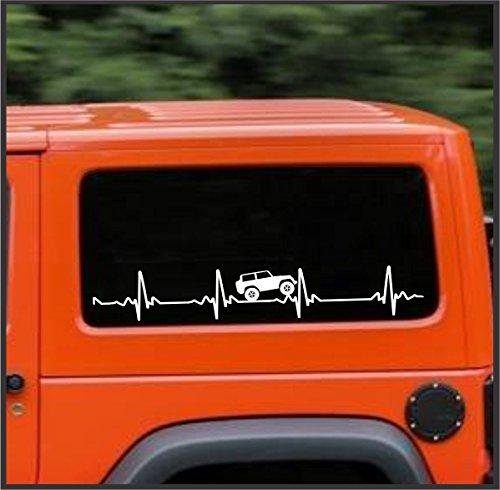 Sticker Connection   Heart Beat EKG für Jeep Wrangler   Aufkleber für Auto, LKW, Laptop, Windschutzscheibe Banner 4