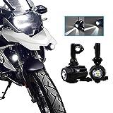 Motocicleta Luces de Niebla LED,Lámparas Auxiliares 40W Lámparas de Conducción de Haz Puntual para BMW R1200GS ADV F800GS F650 LC ADV KTM 1190 1190R 1290 Motocicletas Universales