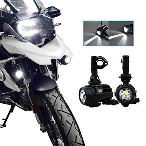 Motocicleta Luces de Niebla LED,Lámparas Auxiliares 40W Lámparas de Conducción de Haz Puntual para Motocicletas Universales
