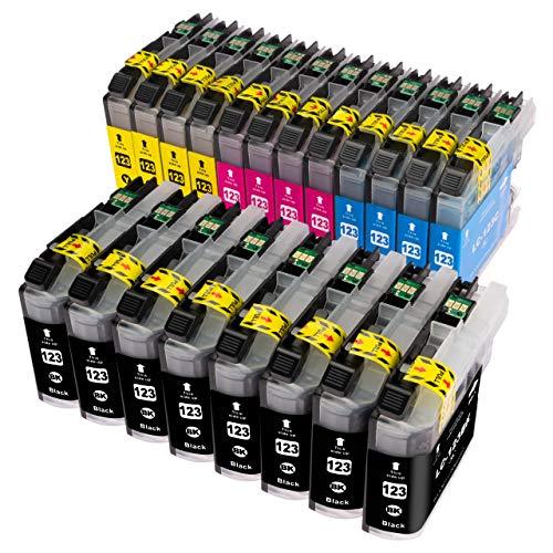 ESMOnline komp. Druckerpatronen (4 Farben) als Ersatz zu Brother LC-123 für Brother DCP J132W J152W J4110DW J552DW J752DW MFC J245 J870DW J4410DW J4510DW J4610DW J470DW J4710DW J650DW J6520DW J6720DW J6920DW (20er Set)