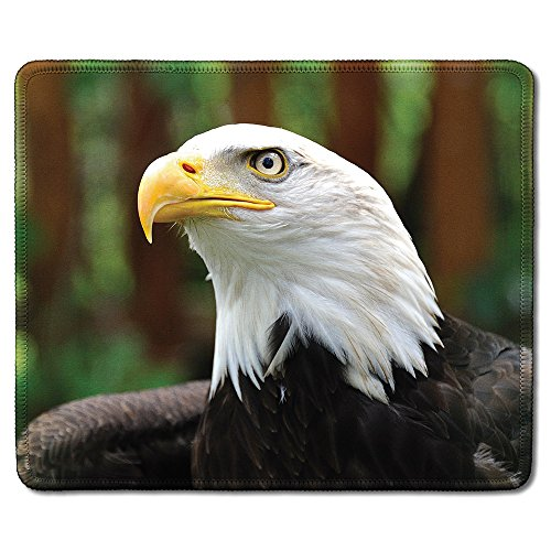 dealzEpic - Art Mousepad - Natural Rubber Mouse Pad Printed with an Eagle in The Wild - Stitched Edges - 9.5x7.9 inches
