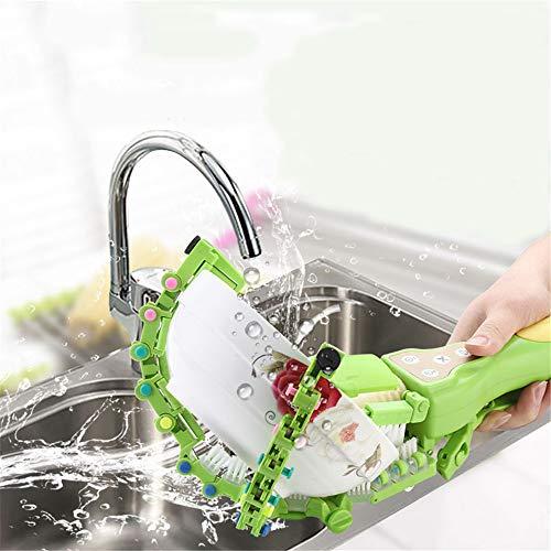 Vaatwasser, intelligent, handgemaakt, keukenborstel, voor thuis, kunst van servies thuis, keuken, wasmachine, draaibaar, H 16,45 inch