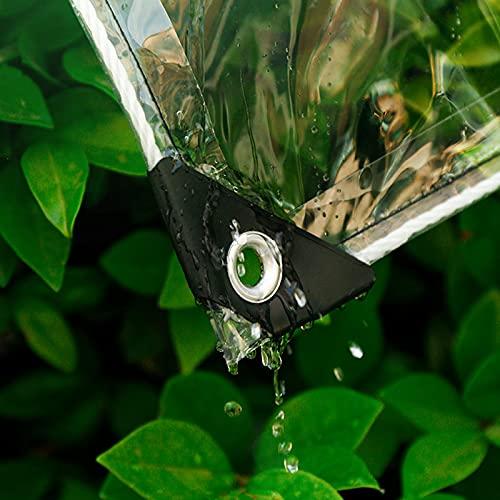 LLHFSW Lona Transparente Resistente al Agua, Resistente, Fuerte Capacidad de Carga Resistencia al desgarro Se Utiliza para impermeabilizar Flores y Plantas,Clear,0.5x2m