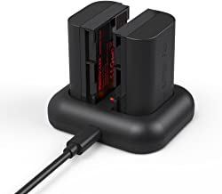 LP-E6, LP-E6N Battery Photoolex Rechargeable 2 Pack 2100mAh Power Battery and Rapid Dual USB Battery Charger for Canon EOS 5D Mark II III IV 5DS 5DS-R 6D 7D 7D Mark II 60D 60Da 70D 80D XC10 Camera
