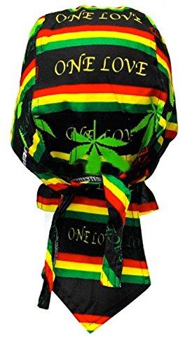 Bandana homme Rasta Jamaique Afrique Reggae Coton feuille drapeau