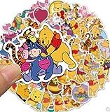 DSSJ Anime Cartoon Winnie The Pooh Skateboard Water Cup Laptop Graffiti Waterproof Sticker Pvc Waterproof Sticker 50Pcs