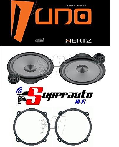 Hertz LINEA UNO K165 K 165 KIT ALTOPARLANTI DUE VIE CASSE AUTO 165 mm + supporti casse ALFA 147 Anteriore o Posteriore 165 cm