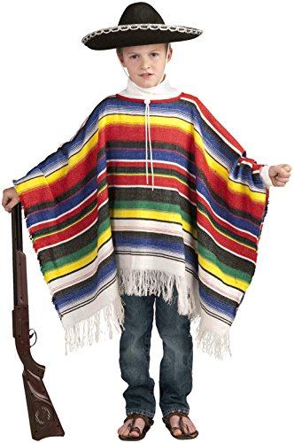 Forum Novelties Mexican Poncho Costume, One Size