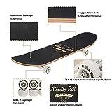 Zoom IMG-2 deuba skateboard rosso arancione design