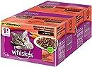 Whiskas 1 + Katzenfutter , Klassische Auswahl in Sauce, 2 x 24 x 100g