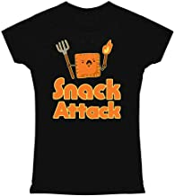 Pop Threads Snack Attack Funny Cute Graphic Tee T Shirt for Women