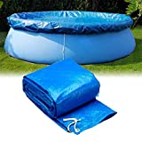 Round Solar Pool Cover, 8/10/12ft Diameter Easy Pool Cover Set for Frame Pools Inflatable Swimming Pool Cover Fast Set Pool Cover (366cm)
