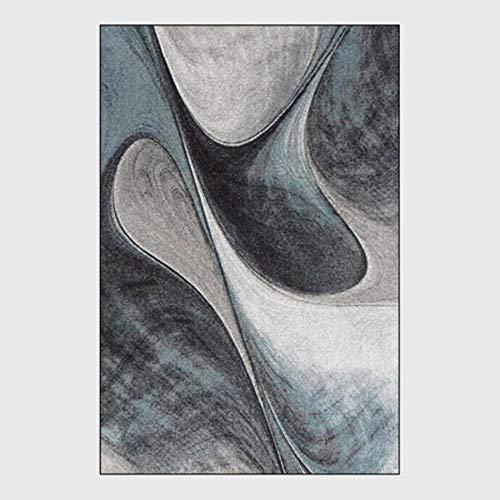 FICI Geometrische Nordic decoratieve tapijt Slaapkamer Woonkamer Sofa Tafel Tapijt Keuken Badkamer Antislip Vloermat, Carpet1,45x75cm