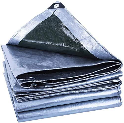 FFJD Lona Impermeable Ojales para Carpa De Lona Bordes Reforzados Lona Impermeable Resistente para Toldo Carpa para Toldo Cubierta para Piscina De Barcos 12,5 Mil De Espesor-5 × 8 M