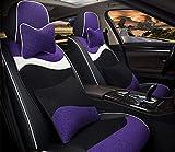 Cubierta de asiento de automóvil conjunto completo, almohadilla de asiento de vellón corto de invierno Cubierta de 4 piezas Set Universal Car Asiento de asiento Cojín,C
