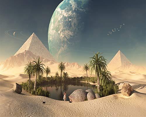 forin Adult Jigsaw 1000 Piece DIY Puzzle Game Un Oasis En El Desierto A Las Pirámides En Egipto para El Hogar Juego De Juguetes Gran Regalo Educativo