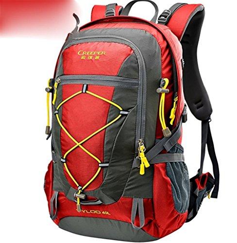 Outdoor randonnée sac à dos ultra léger 40L usure tour d'épaule-voyage sac housse imperméable d'équitation , wine red 40 liters