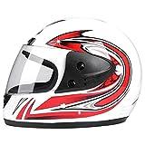 YOBAIH Cascos De Moto Profesional de Las Carreras de Motocross Casque Casque Hors Ruta Camino Casco de la Motocicleta (Color : White)