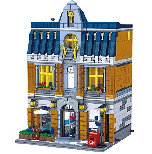 Bloques de construcción de modelo de arquitectura de casa modular, 1186 Bloques de construcción de abrazaderas Roma