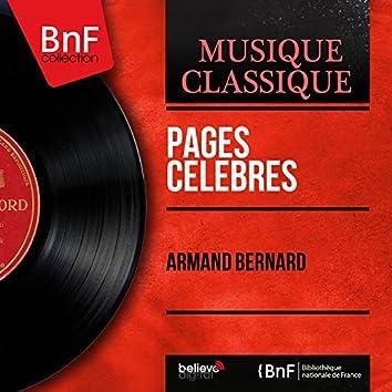 Pages célèbres (Arr. by Armand Bernard, Mono Version)