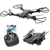 Smatree L603 Drone Pliable Portable avec Caméra 720p HD Vidéo WiFi 2.4GHz 6-Axis Gyro Fontion Maintien l'Altitude, Retour...