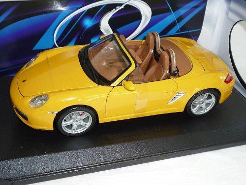 test Maisto Porsche Boxster S Cabriolet 987 2005 Modellauto Gelbes Modellauto Deutschland