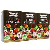 Té del festival de la fruta Apsara, té de frutas para todos los días, 3 juegos de té (60 bolsitas de té), té de frutas con manzanas de hibisco lemongrass, calmante afrutado de la sed