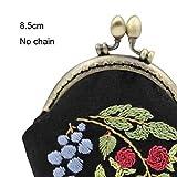 DIY Kits de bolsas de bordado de flores Conjuntos de punto de cruz de costura floral con aro de bordado Swing Arts Birthday Handmade Gift, B, con aro