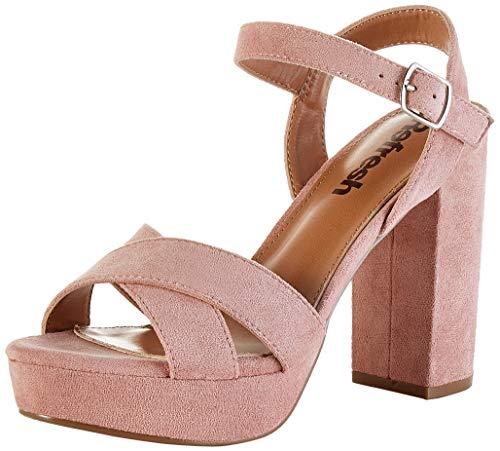 Refresh 69535.0, Zapatos Tira Tobillo Mujer, Rosa