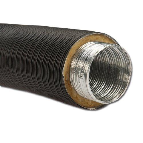 Isoliertes Aluflexrohr Aluflexleitung 800 mm, DN 50 mm, Schwarz Aluflex
