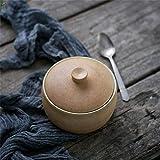 ZCC Tureen - Cuenco para hornear retro de arroz al vapor con huevo, cubilose, cuenco para servir tazón de cerámica pequeño con tapa, apto para horno microondas
